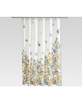 Amazing Deal on Floral Print Shower Curtain Gold Medal - Threshold