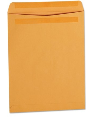 Universal Self-Stick Open-End Catalog Envelope, #13 1/2, Cheese Blade Flap, Self-Adhesive Closure, 10 x 13, Brown Kraft, 250/Box -UNV35292