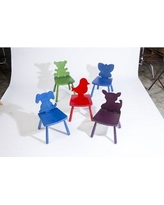 "Children's Furniture Co Animal Bird Kids Novelty Chair Y2011 Size: 23"" H x 14.5"" W x 14"" D, Color: Blue"