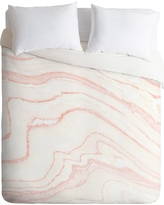 Pink Rebecca Allen Blush Marble Duvet Cover (Queen) - Deny Designs