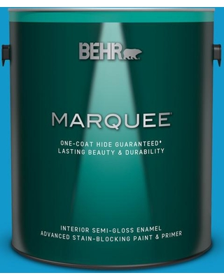 BEHR MARQUEE 1 gal. #550B-6 Isle of Capri Semi-Gloss Enamel Interior Paint and Primer in One