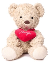 Bears for HumanitySherpa Bears Organic Cotton Plush with I Love You Heart, Cream