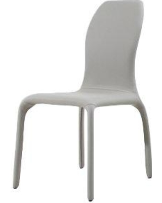 Casabianca Furniture Pulse Side Chair (Set of 2) TC-187-G / TC-187-W Upholstery Color: White Gray
