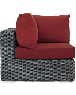 Keiran Sectional Brayden Studio Upholstery Color: Red
