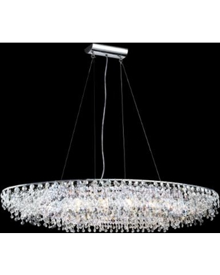 James r moder 40 wide continental oval crystal chandelier