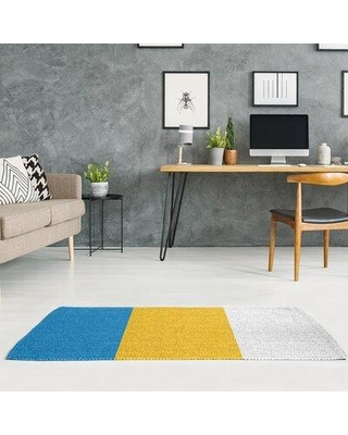 East Urban Home La Power Football Stripes Poly Yellow Area Rug FCLS2097 Rug Size: Rectangle 3' x 5'