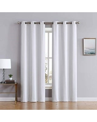 """Porch & Den Stafford Eco-friendly Fabric Blackout Curtains (Panel Pair 38"""" W x 84"""" L - Ivory)"""