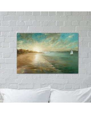 Special Prices On Three Posts Coastal Glow Painting Print On Wrapped Canvas Canvas Fabric In Brown Blue Size 8 H X 12 W X 0 75 D Wayfair