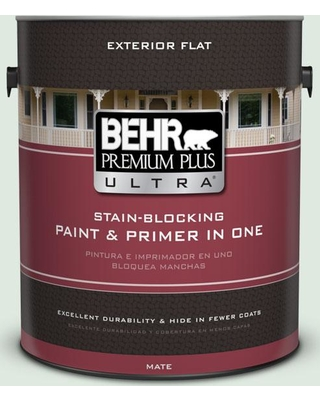 BEHR Premium Plus Ultra 1 gal. #460E-1 Meadow Light Flat Exterior Paint and Primer in One