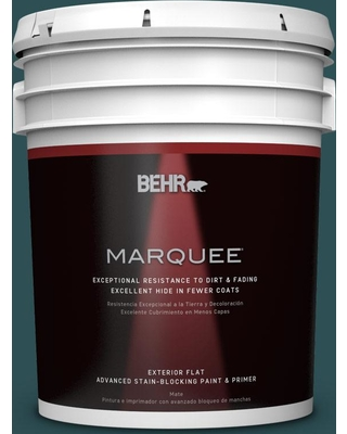 BEHR MARQUEE 5 gal. #ecc-14-3 Otter Creek Flat Exterior Paint and Primer in One