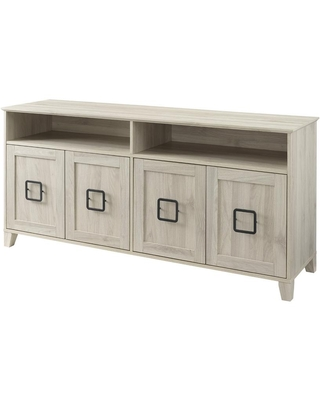 Welwick Designs 58 in. Birch Wood TV Stand Fits TVs Up to 65 in. with Storage Doors, Brown
