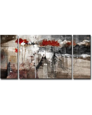 Wrought Studio 'Abstract' 3 Piece Print of Painting on Canvas Set VARK5651