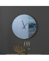 Amazing Sales On Ebern Designs Bonzer Mitigative Abstract Metal Wall Clock Metal In Yellow Blue Size Large Wayfair 09295abd74784c41a2185270ac8e9a6e