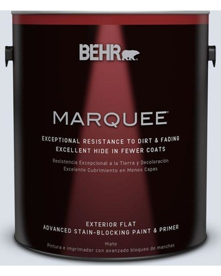 BEHR MARQUEE 1 gal. #ppl-70 Eastern Breeze Flat Exterior Paint and Primer in One