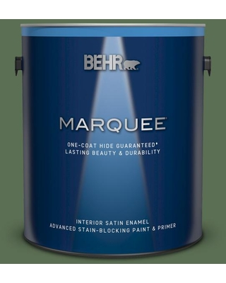 BEHR MARQUEE 1 gal. #QE-39 Willow Leaf Satin Enamel Interior Paint and Primer in One
