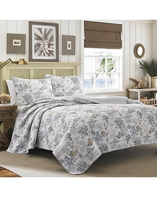 Tommy Bahama Home Beach Bliss Quilt Set, Full/Queen