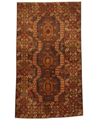 Prentice Hand-Knotted Red/Beige Area Rug Isabelline