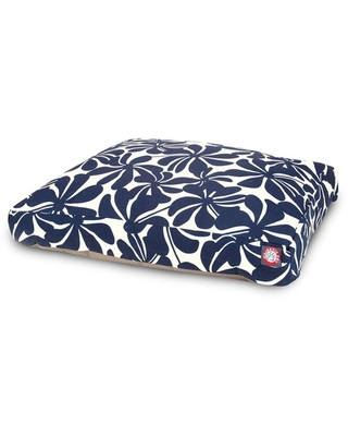 Majestic Pet Products Navy Blue Polyester Rectangular Dog Bed (For Large) | 788995504146
