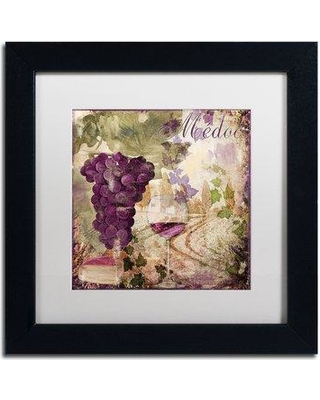 """Trademark Fine Art 'Wine Country IV' Framed Vintage Advertisement ALI4618-B1 Size: 11"""" H x 11"""" W x 0.5"""" D Mat Color: White"""