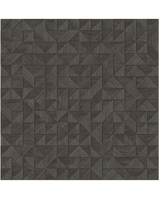 Amazing Deal On A Street Prints Gallerie Dark Brown Geometric Wood Paper Strippable Wallpaper Covers 56 4 Sq Ft