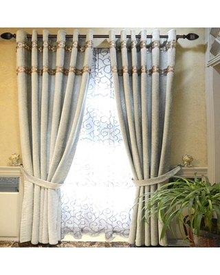 DISSTON COMPANY 36 in. x 72 in. Telescoping 1 in. Single Curtain Rod in Brown with Fluted Egg Finial