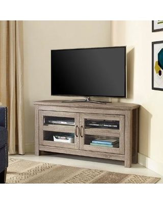 44 Wood Tv Stand In Driftwood Walker Edison W44ccrag