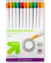 #2 Mechanical Pencils (White) , 0.7mm, 50 ct - up & up