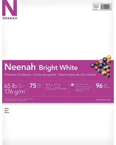 Neenah Cardstock Printer Paper Letter Size 65lb 75ct Bright White
