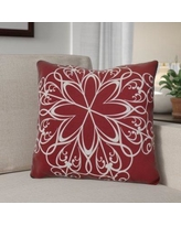 """The Holiday Aisle Decorative Holiday Print Throw Pillow HLDY1531 Size: 20"""" H x 20"""" W, Color: Cranberry"""