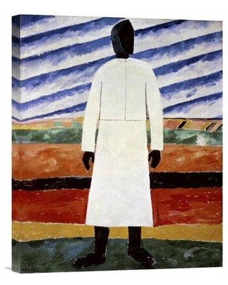 Find The Best Deals On Global Gallery Farmer By Kazimir Malevich Painting Print On Wrapped Canvas Canvas Fabric In Red Brown Purple Size 22 H X 18 W X 1 5 D Wayfair