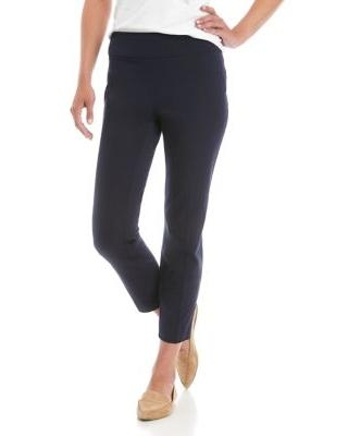 Crown & Ivy™ Navy Ashley Bi Stretch Pull On Pants - Short
