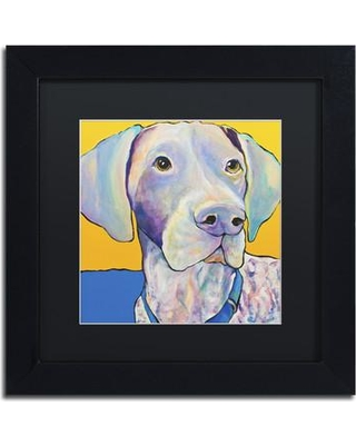 "Trademark Art 'Blue' Framed Painting Print on Canvas PS151-B1111BMF / PS151-B1616BMF Size: 11"" H x 11"" W x 0.5"" D"