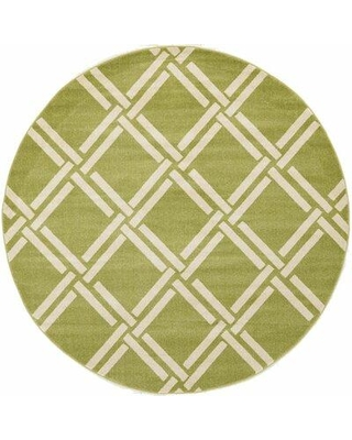 "RugPal Theodora Geometric Lime/Beige Area Rug, Polypropylene in Ivory/Cream, Size Rectangle 3'3"" x 5'3"" 