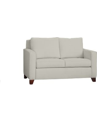 """Cameron Square Arm Upholstered Loveseat 60"""", Polyester Wrapped Cushions, Basketweave Slub Oatmeal"""