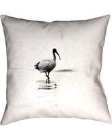 """Highland Dunes Castillo Ibis Double Sided Throw Pillow HIDN2719 Size: 26"""" x 26"""" Type: Throw Pillow Material: Suede"""