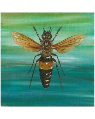 """Trademark Art 'Honey Bee Texture' Acrylic Painting Print on Wrapped Canvas ALI35157-CGG Size: 35"""" H x 35"""" W x 2"""" D"""