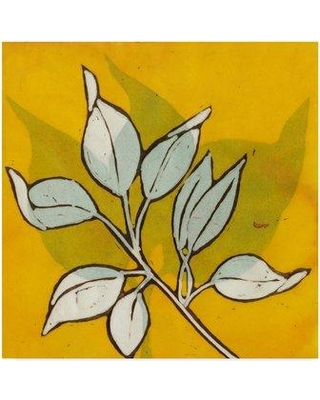 "Winston Porter 'Gold Batik Botanical I' Graphic Art Print on Wrapped Canvas WNPO4675 Size: 24"" H x 24"" W x 2"" D"