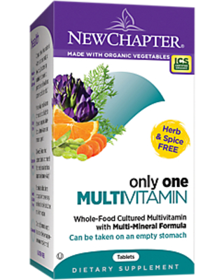 Organic Only One Multivitamin - Whole-Food Complex - Once Daily (72 Tablets)