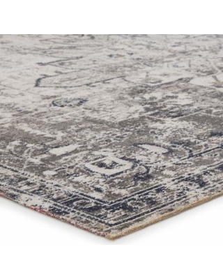 Jaipur Living Isolde Indoor/ Outdoor Medallion Gray/ Ivory Round Area Rug (6'X6') - RUG142724