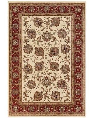 """A117J3160235ST 5' 3"""" X 7' 9"""" Rectangle Rug with Oriental Pattern and PolypropyleneFiber"""