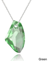 Crystal Ice Sterling Silver Free-form Crystal Necklace (Green)