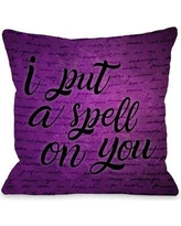 "The Holiday Aisle I Put a Spell on You Throw Pillow THLY1851 Size: 18"" x 18"""