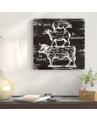 """East Urban Home 'Butcher's Diagram' by Carol Robinson Graphic Art on Wrapped Canvas FTSC3116 Size: 26"""" H x 26"""" W x 0.75"""" D"""