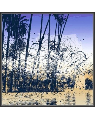 Ebern Designs 'Discover California IV' Framed Graphic Art Print on Canvas BF065546
