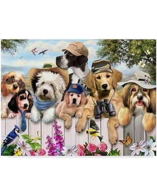 """Trademark Fine Art 'Best Pals' Acrylic Painting Print on Wrapped Canvas ALI23909-C Size: 35"""" H x 47"""" W x 2"""" D"""