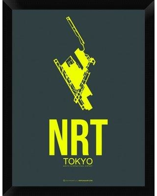 "Naxart 'NRT Tokyo Poster 2' Framed Graphic Art Print on Canvas GCF-398948 Size: 26"" H x 20"" W x 1.5"" D"