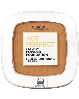 L'Oreal Paris Age Perfect Creamy Pressed Powder Foundation with Minerals - 345 Hazelnut - 0.31oz