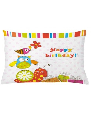 """Birthday Indoor / Outdoor Polka Dots Lumbar Pillow Cover East Urban Home Size: 16"""" x 26"""""""