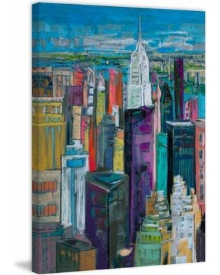 """Marmont Hill 'Chrysler 7' Painting Print on Wrapped Canvas MH-MWW-GARD-03-C- Size: 24"""" H x 16"""" W x 1.5"""" D"""