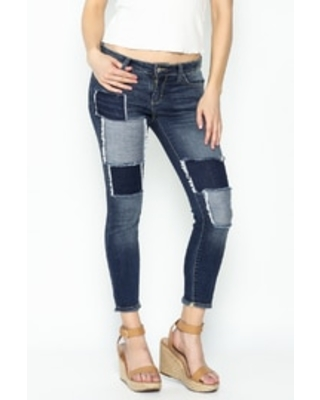 Patched Skinny Jeans